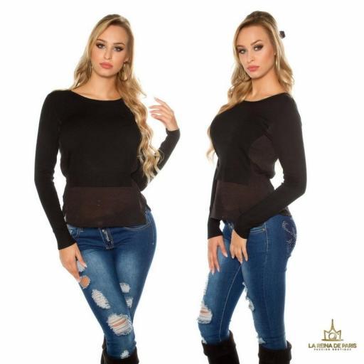 suéter 2 en 1 bicolor  [2]