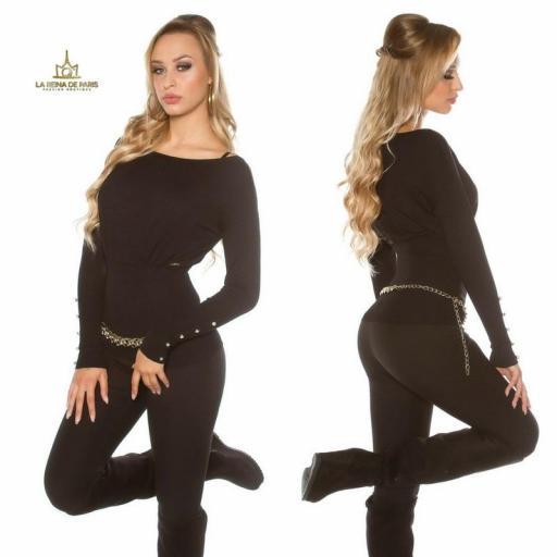 Suéter negro femenino y chic [1]