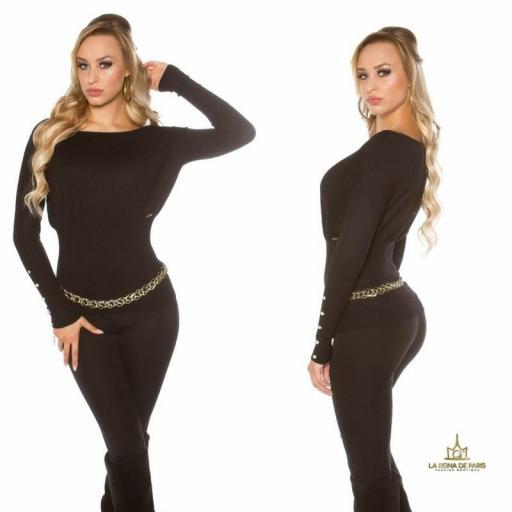 Suéter negro femenino y chic [2]