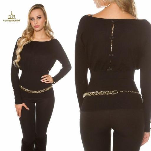 Suéter negro femenino y chic [3]