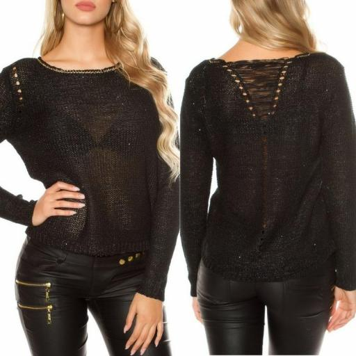 Suéter negro coarse cord [3]