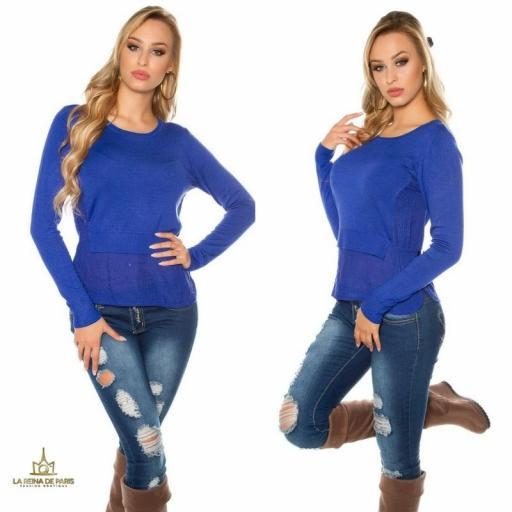 Suéter moda mujer efecto top crop   [1]