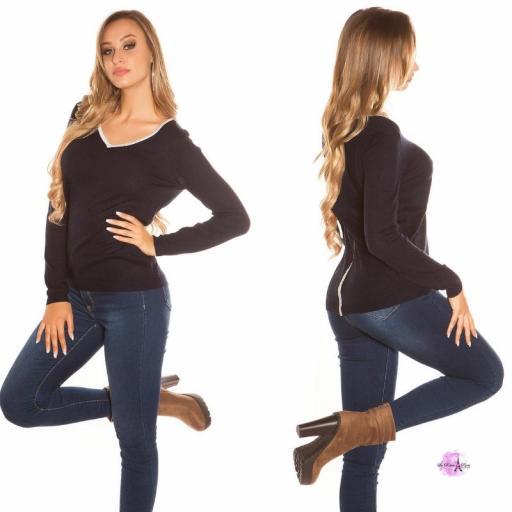 Suéter cremallera posterior azul [2]