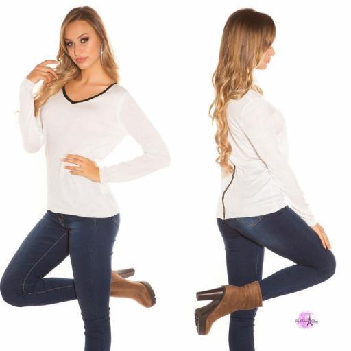 Suéter cremallera posterior blanco [2]