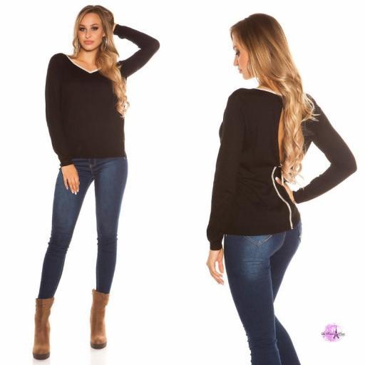 Suéter cremallera posterior negro [1]