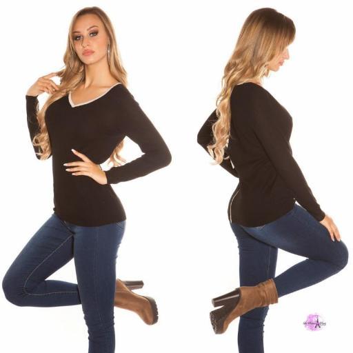 Suéter cremallera posterior negro [2]