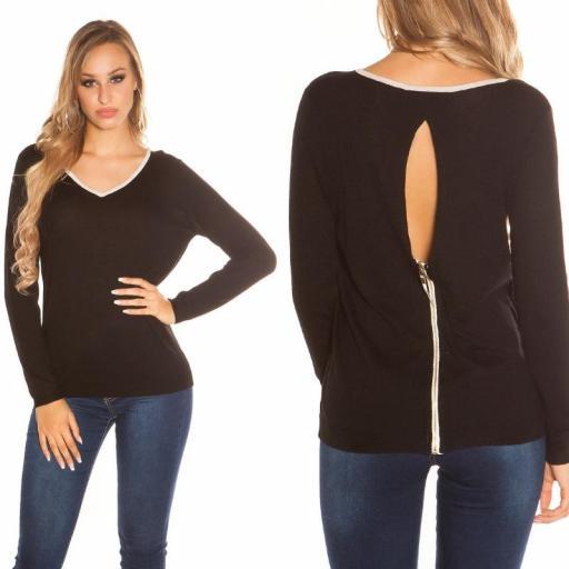 Suéter cremallera posterior negro [3]