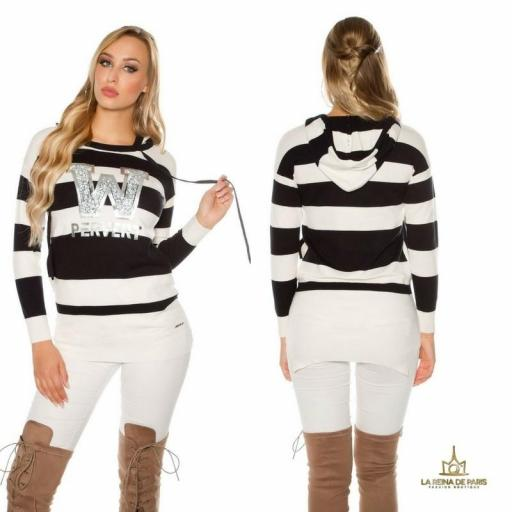 Suéter negro largo hoodie pervert