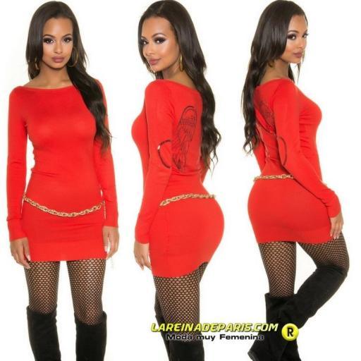 Vestido corto o suéter color vitaminico [1]