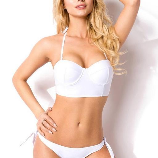 Bikini push up moderno blanco