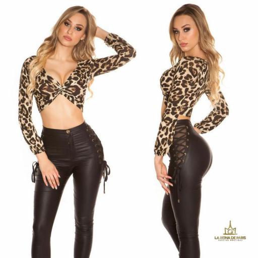 Top crop manga larga leopardo [1]