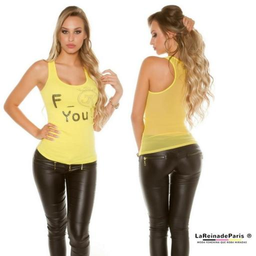 Top moda F-You Amarillo