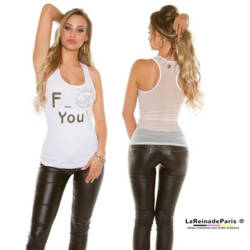 Top moda F-You Blanco