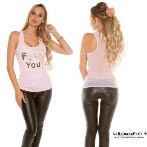 Top moda F-You Rosa