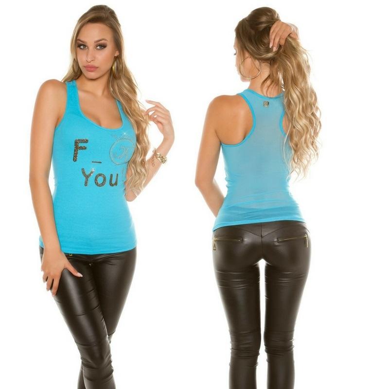 Top moda F-You Turquesa