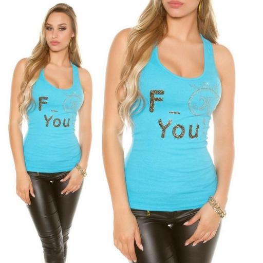 Top moda F-You Turquesa [3]