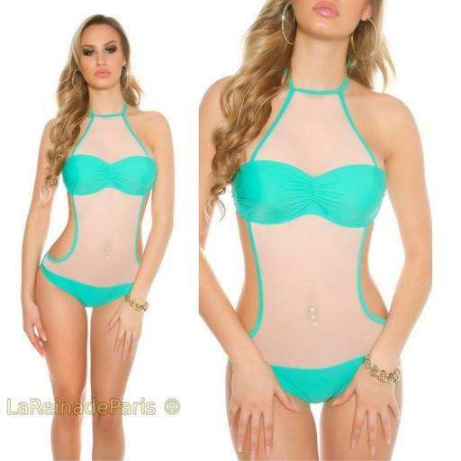 Trikini de mujer con malla color menta [3]
