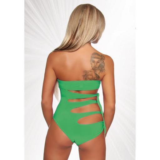 Trikini Bandeau verde Envy  [1]