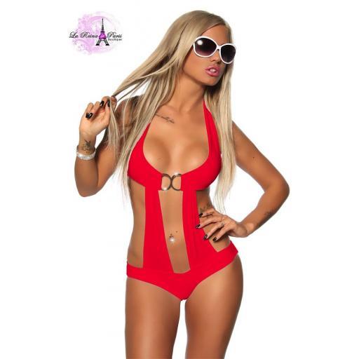 Trikini Rojo Belice Atractivo