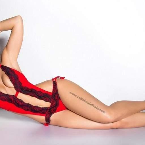 Trikini oferta con encaje rojo [2]