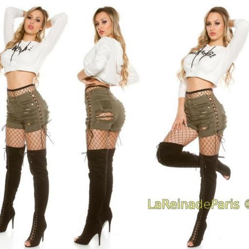 Shorts cutoff khaki jean [2]