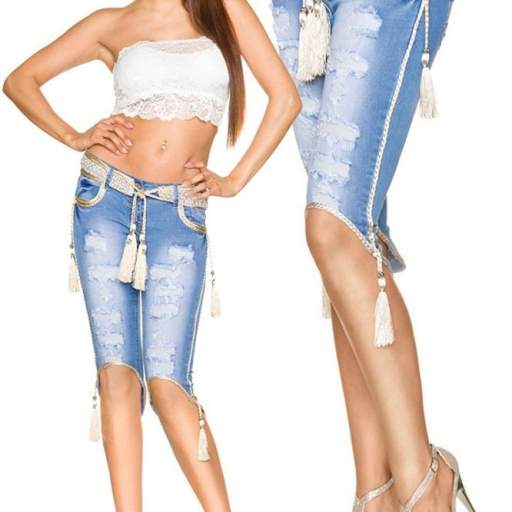 Jean cortos elegantes y modernos Daisy