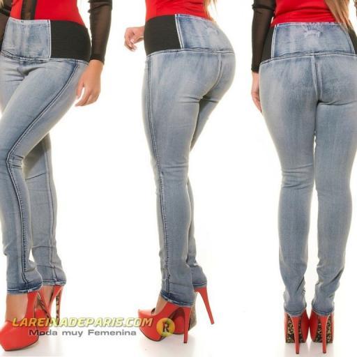 Vaqueros ajustados de moda cintura alta  [2]