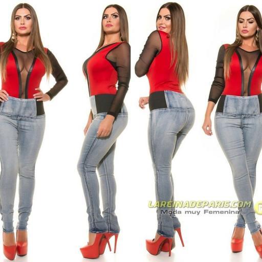 Vaqueros ajustados de moda cintura alta  [3]