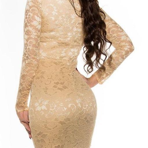 Vestido elegante champagne Taisha  [1]