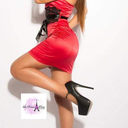 Vestido cóctel corto rojo [2]