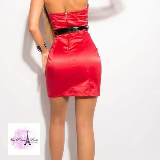 Vestido cóctel corto rojo [1]
