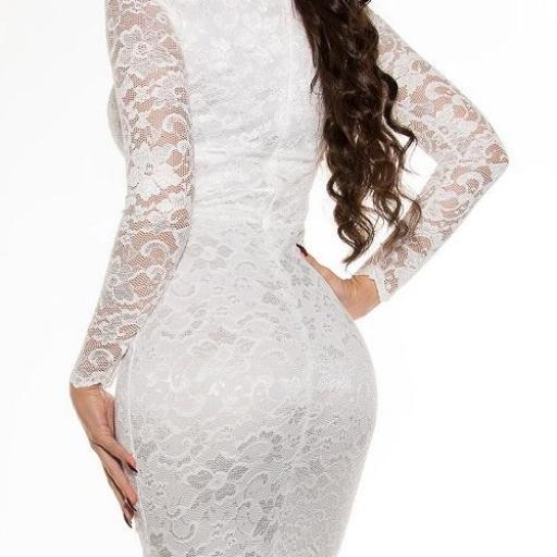 Vestido que atesora elegancia blanco [2]