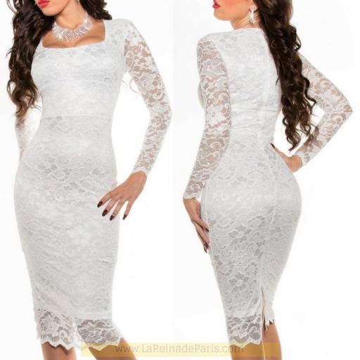 Vestido que atesora elegancia blanco