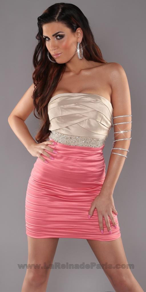 Mini vestido party bicolor lentejuelas