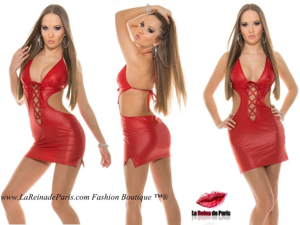 Vestido desafiante y poderoso rojo
