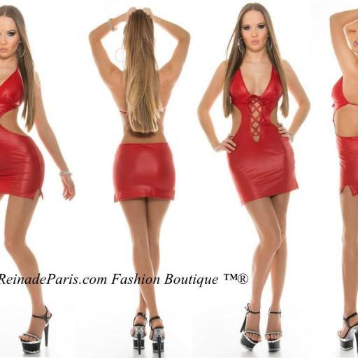 Vestido desafiante y poderoso rojo [3]