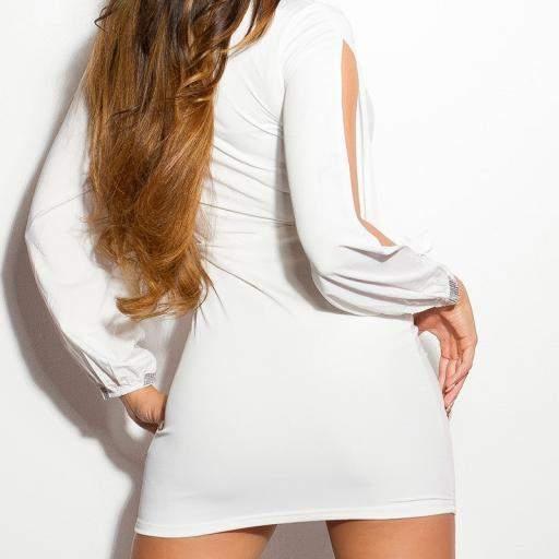 Vestido blanco de fiesta Yukini  [1]