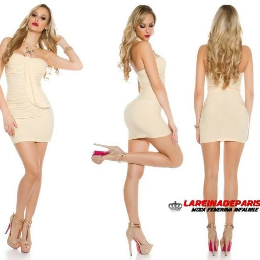 Vestido de party champagne