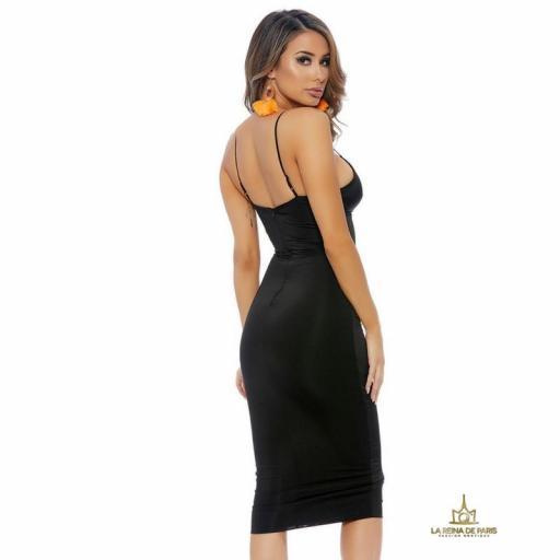 Vestido negro ajustado media pierna [2]