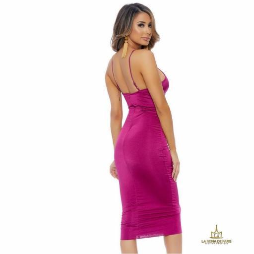 Vestido ajustado magenta [2]