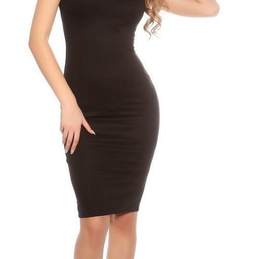 Vestido negro pincel con plises  [3]