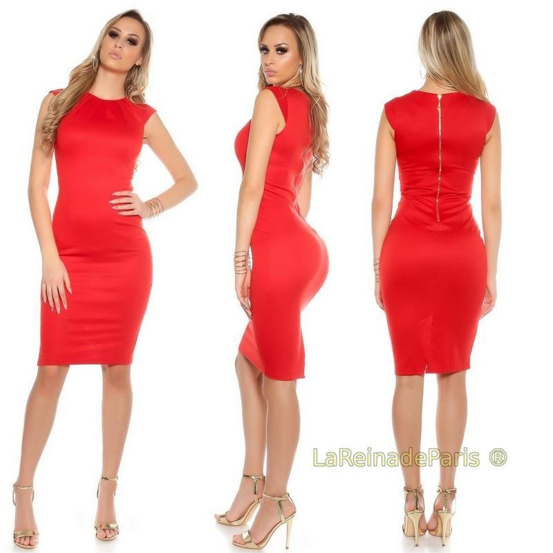 Vestido pincel rojo