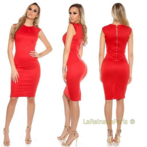 Vestido pincel rojo [0]