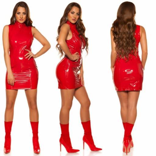 Vestido rojo marcatipazo vinilo  [1]