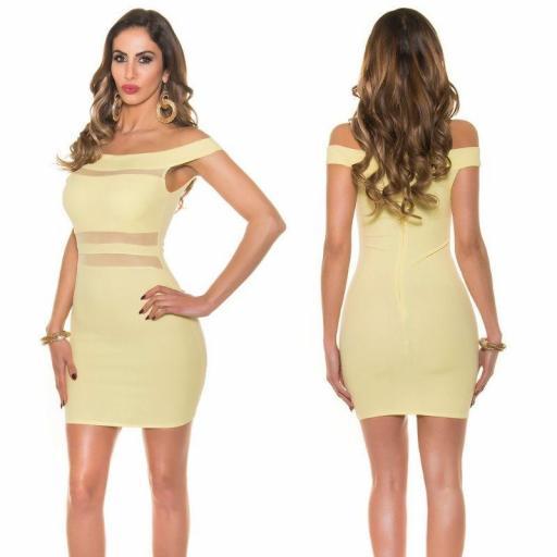 Vestido corto amarillo Cony