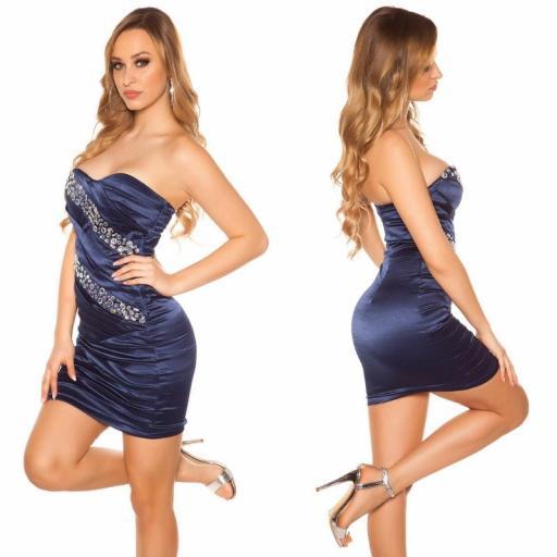 Vestido sedoso azul y brillo  [2]