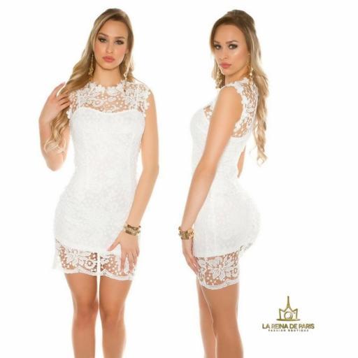 Vestido blanco encaje chic [1]