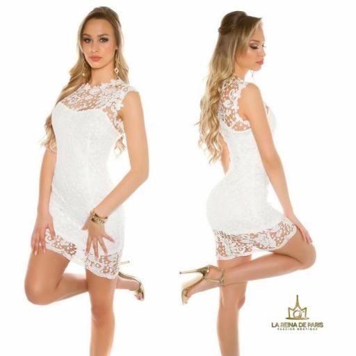 Vestido blanco encaje chic [2]