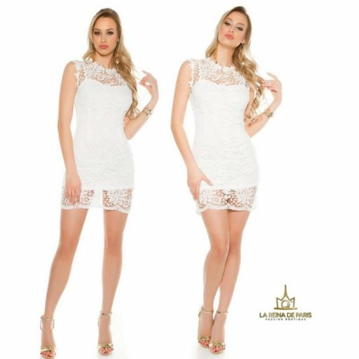 Vestido blanco encaje chic [3]