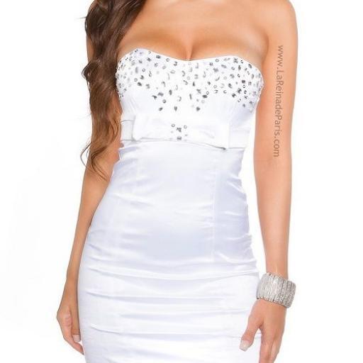 Espectacular vestido de cóctel blanco [1]